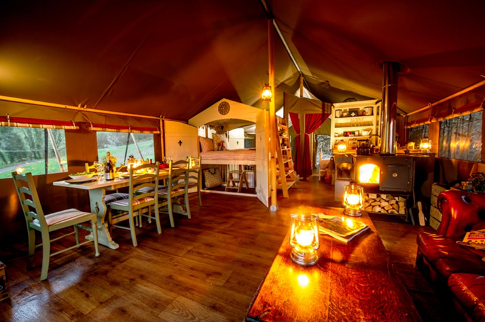 One of the lodges at award-winning Glamping site Longlands, near Combe Martin | Business Action
