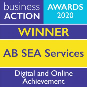 AB SEA Services | Business Action Digital & Online Achievement Award 2020 Winner | independent North Devon business magazine | North Devon business news