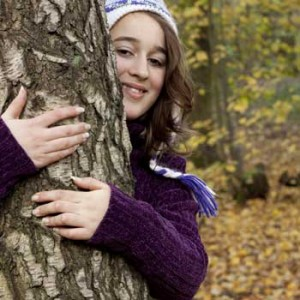 Tree hugger: the Devon Wildlife Trust is giving people ideas to re-connect with nature this Christmas. Photo Tom Marshall.