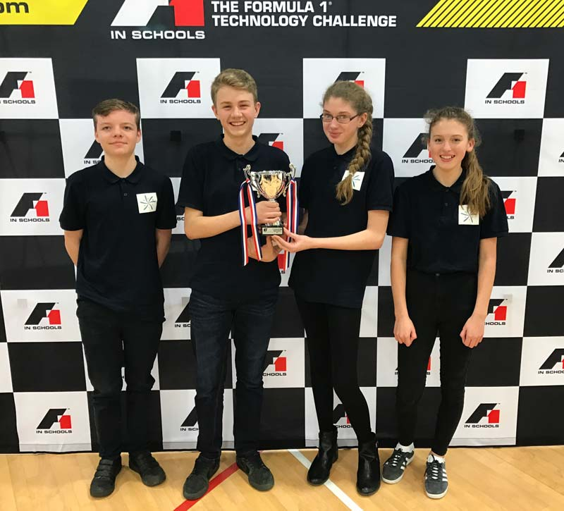 The Ilfracombe Academy Year 9 Team Nebula, winner of their category (Entry Class)
