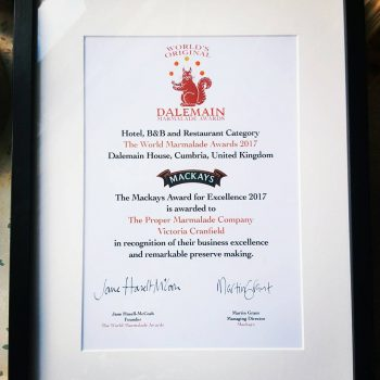 The Proper Marmalade Company Excellence Award   Business Action