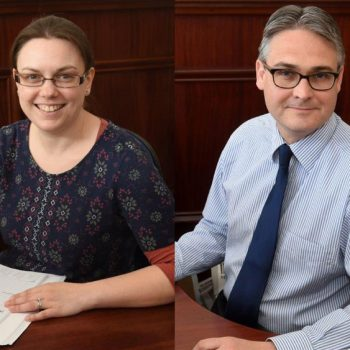 Laura Mather (left) and Paul Paterson of Taylors Solicitors   Business Action   North Devon business news