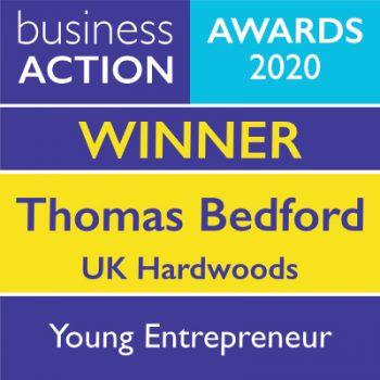 Thomas Bedford   UK Hardwoods   Young Entrepreneur Award 2020 Winner   Business Action   independent North Devon Business magazine   North Devon Business News