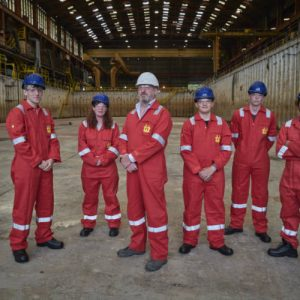 First new apprentices join shipyard